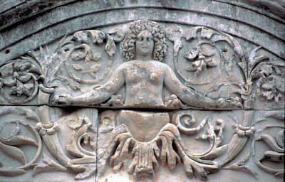 Turkey, Ephesus Marble Roman Carving Poster