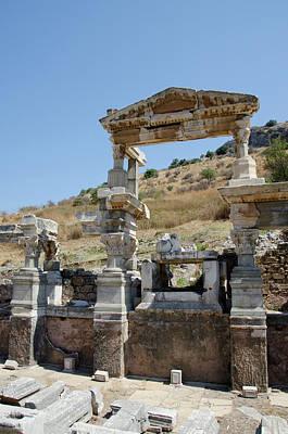 Turkey, Ephesus The Nymphaeum Traiani Poster