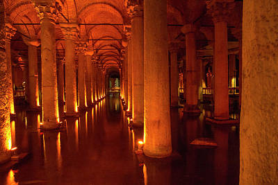 Turkey, Istanbul The Basilica Cistern Poster by Emily Wilson