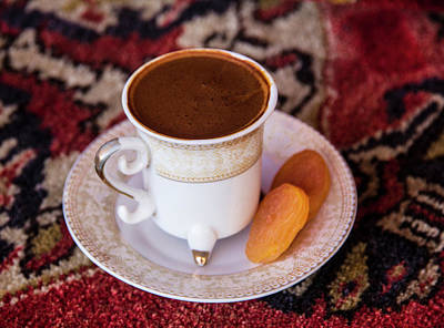 Turkey Turkish Coffee, Apricots Poster by Emily Wilson