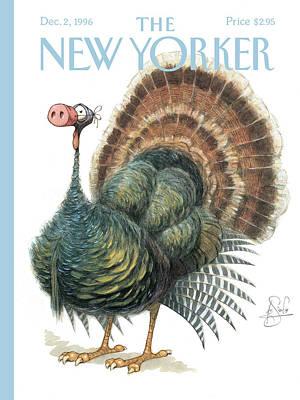 Turkey Wearing A False Pig Nose Poster