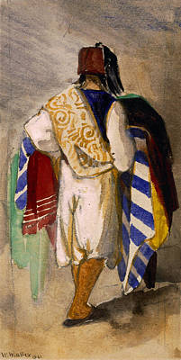 Turkish Carpet Seller, 1841 Poster by William James Muller