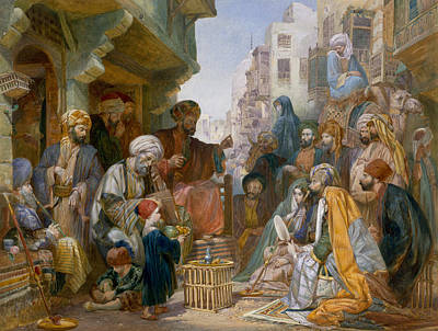 Turkish Street Scene Poster