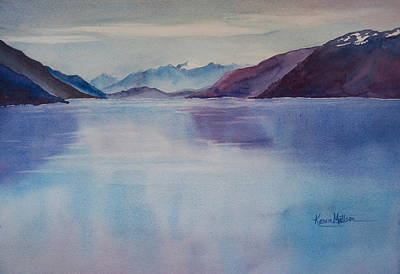 Turnagain Arm In Alaska Poster by Karen Mattson