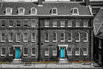 Turquoise Doors At Tower Of London's Old Hospital Block Poster