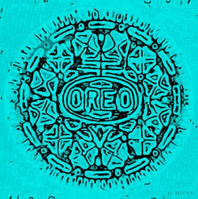 Turquoise Oreo Poster by Rob Hans