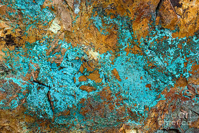 Poster featuring the photograph Turquoise Abstract by Chris Scroggins