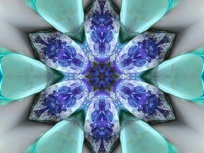 Turquoise Amethyst Star Mandala Poster