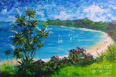 Turquoise Bay On A Sunny Day Poster