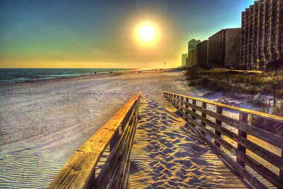 Turquoise Beach - Romar Beach Access Poster by Michael Thomas