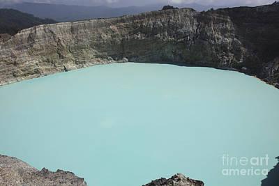 Turquoise Crater Lake Of Kelimutu Poster
