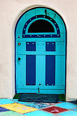 Turquoise Door Poster by Art Block Collections