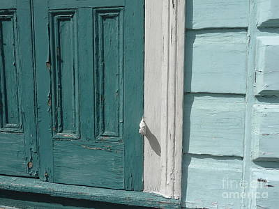 Poster featuring the photograph Turquoise Door by Valerie Reeves