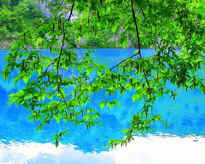 Turquoise Lake Poster by Ramona Johnston
