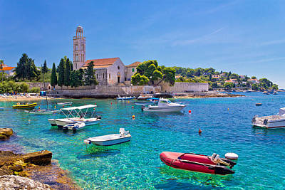 Turquoise Sea Of Hvar Island Poster by Brch Photography