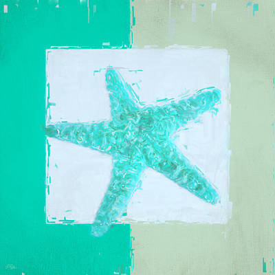 Turquoise Seashells Ix Poster by Lourry Legarde