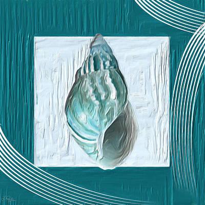 Turquoise Seashells Xx Poster by Lourry Legarde