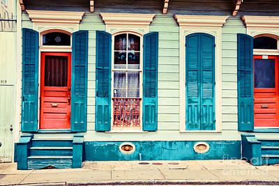 Poster featuring the photograph Turquoise Shutters by Sylvia Cook