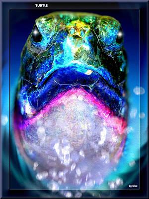 Poster featuring the digital art Turtle by Daniel Janda
