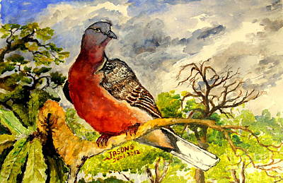 Poster featuring the painting Turtle - Dove by Jason Sentuf