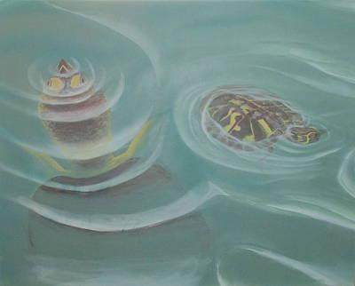 Turtle Pond I Poster