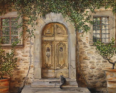 Tuscan Door Poster by Lizbeth Gage