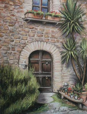 Tuscan Doorway La Parrina Poster