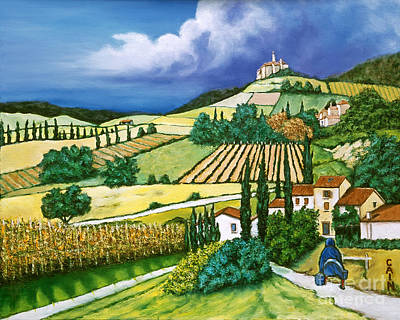Tuscan Fields Poster by William Cain