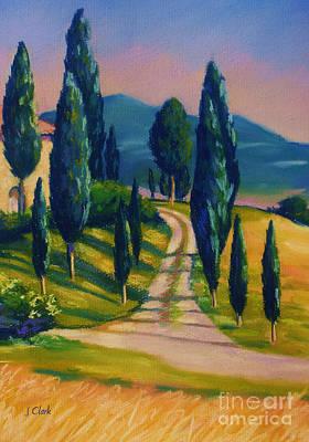 Tuscan Glow Poster by John Clark