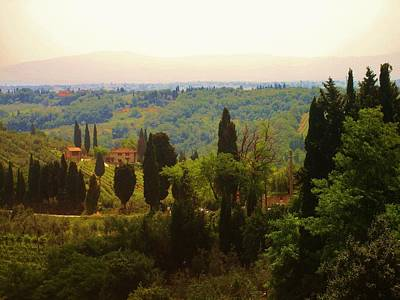 Poster featuring the photograph Tuscan Landscape by Dany Lison