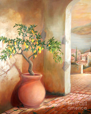 Tuscan Lemon Tree Poster by Michael Rock