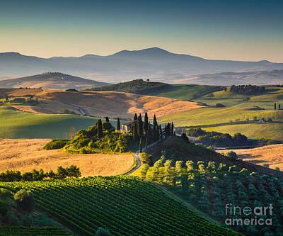 Tuscan Morning Poster