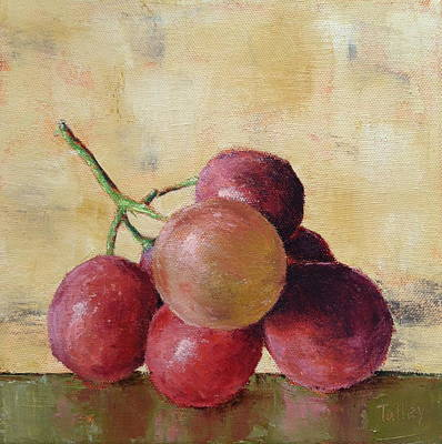 Poster featuring the painting Tuscan Red Globe Grapes by Pam Talley