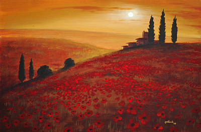 Tuscan Sunset Poster