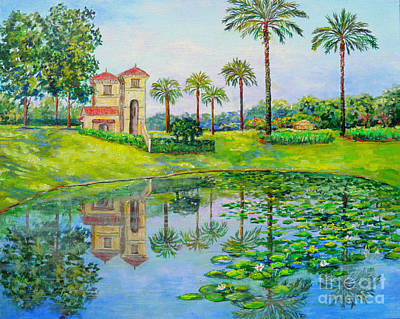 Tuscana Reflection Poster by Lou Ann Bagnall