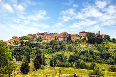 Tuscany - Castelnuovo Dell'abate Poster by Joana Kruse