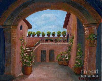 Tuscany Arch Poster by Becky Lupe