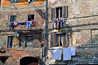 Tuscany Clothes Dryer Poster by Elvis Vaughn