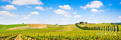 Tuscany Landscape Panorama Poster by JR Photography