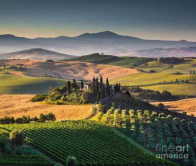 Tuscany Sunrise Poster by JR Photography