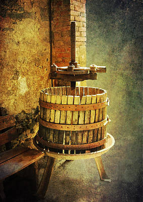Tuscany Wine Barrel Poster