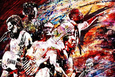 Tv On The Radio Art Piece Poster by Ryan Rock Artist