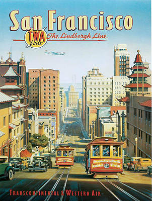 Twa To San Francisco Poster
