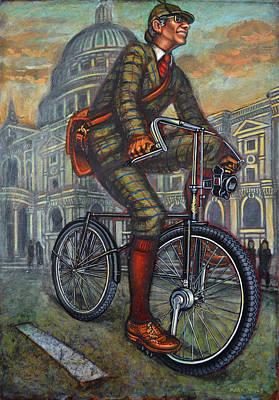 Bob On His Bantam St Pauls London Poster