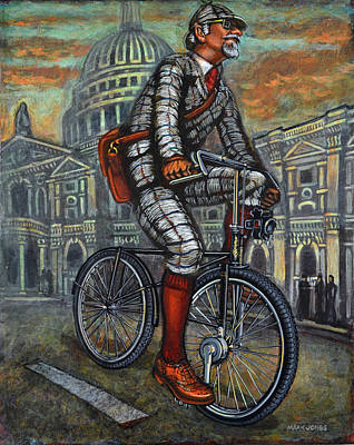 Poster featuring the painting Tweed Run In Grey Passing St Pauls London  by Mark Howard Jones