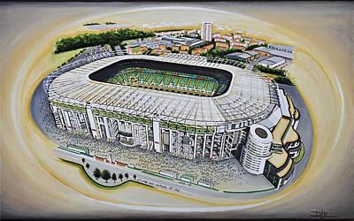 Twickenham Rugby Stadium Poster by D J Rogers