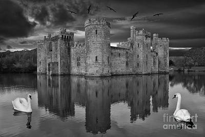 Twilight At Bodiam Castle Poster by Pete Reynolds