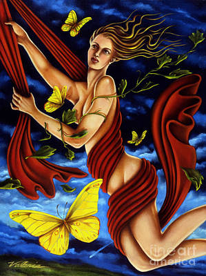 Poster featuring the painting Twilight Flight by Valerie White