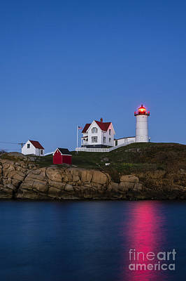 Twilight Nubble Lighthouse Poster