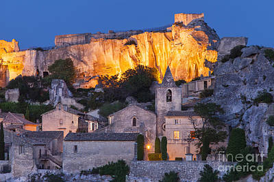Twilight Over Les Baux Poster by Brian Jannsen